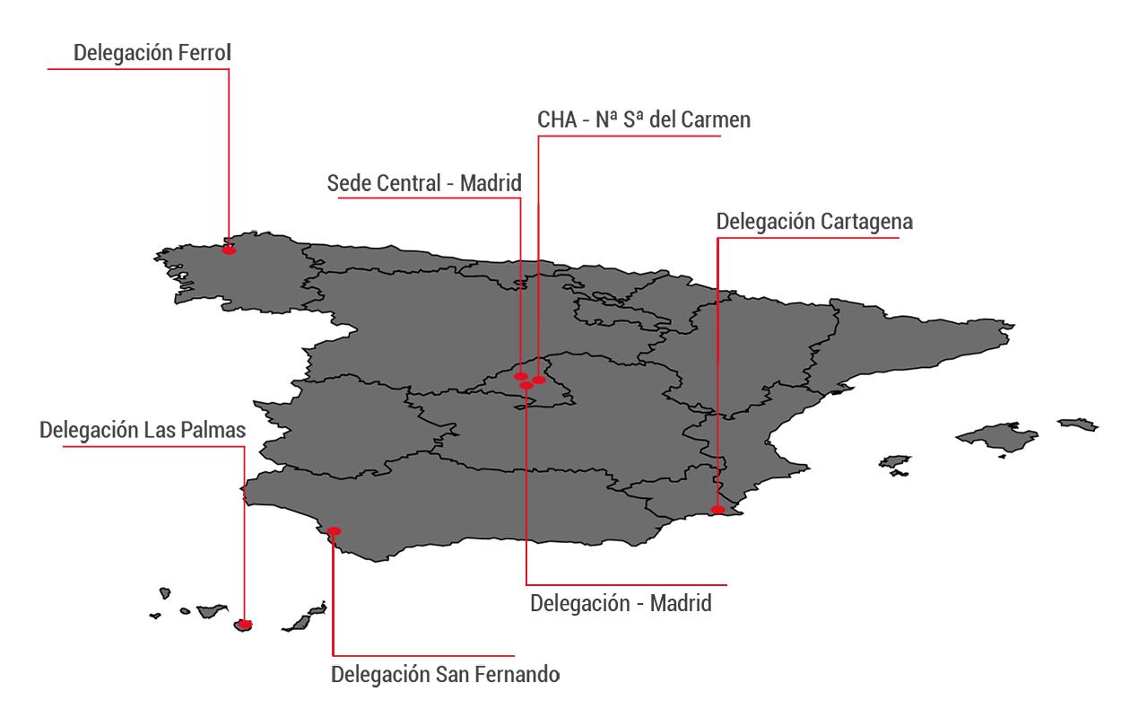 Mapa de delegaciones - PAHUAR